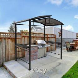 Eagle Peak 8'x5' Bbq Grill Gazebo Outdoor Backyard Canopy Avec Cadre En Acier