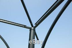 En Plein Air À Deux Niveaux De Jardin Gazebo Cour Pare-soleil Canopy Métal Tente Patio Pavillon