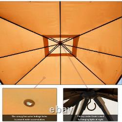 Erommy 10x12 Ft Canopy Gazebo Cadre En Acier Gazebo Extérieur Avec Venturé Doux-vente