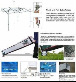 Étanche Ez Pop Up Canopy Tente Pliante Extérieur Patio Gazebo Withwheeled Sac