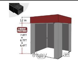 Eurmax 5x5 Flat Top Photo Booth Ez Pop Up Canopy Gazebo Tent+4 Murs Latéraux