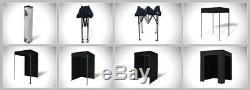 Eurmax 5x5 Flat Top Photo Booth Ez Pop Up Canopy Gazebo Tente + 4 Murs Latéraux