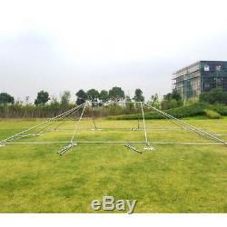 Événement Party Cadre Tente Canopy 20x30' Weekender Pe Gazebo Économie Résistant À L'eau