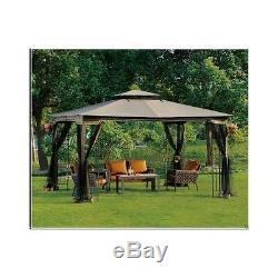 Extérieur Belvédère Avec Canopy Netting Arrière Pergola 10 X 12 Jardin Patio De Mariage