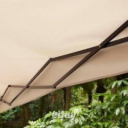 Extérieur Collapsible Gazebo Sun Shade Tissu Résistant Aux Uv Cadre En Acier Durable