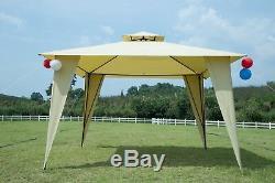 Extérieur De Jardin En Métal 2 Niveaux Gazebo Écran Patio Jardin Canopy Tente Avec Net