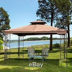 Extérieur Gazebo Avec Tente Canopy Netting Patio Garden Party De Mariage 10 X 12 Nouveau