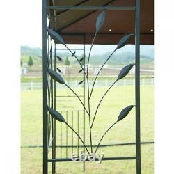 Extérieur Gazebo Cadre En Acier Ventilé Gazebo Avec Brown Netting N34 12'x 10