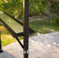 Extérieur Grill Gazebo Barbecue Canopy Avec Comptoirs Pelouse De Jardin Patio