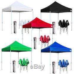 Ez Pop Up 8x8 Canopy Patio Extérieur Tente Instantanée Sport Abri Camping Belvédère