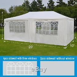 Ez Pop Up Mariage Party Fun Tente 10'x20' Pliante Gazebo Canopy W Sac Carry