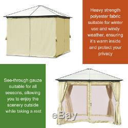 Gazebo 10'x10' Canopy Abri Patio Party Tente D'extérieur Murs Latéraux Préau