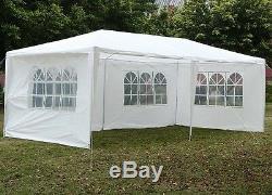 Gazebo 3m X 6 M Tente Chapiteau Parti Auvent Blanc Panneaux Latéraux Étanche Polyvalent