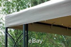 Gazebo 8' Cadre Carré Acier, Finition Époxy Noir Mat Finition, High Grade Canopy