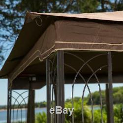 Gazebo Acier Kit Pergola Heavy Duty 11x13 Patio Cadre En Métal Auvent Tente Camping