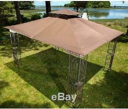Gazebo Acier Kit Pergola Heavy Duty 11x13 Toit Patio Cadre En Métal Auvent Tente Nouveau