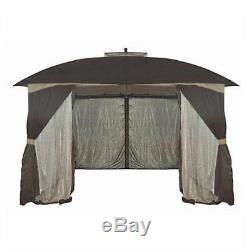 Gazebo Cabine 10' X 12' Canopy Patio Ombre Couverture Extérieure Et Yard House Tente D'écran