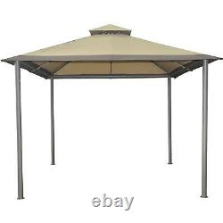 Gazebo Extérieur 10 X 10 Pi Canopy Steel Frame Garden Patio Yard Sun Shelter
