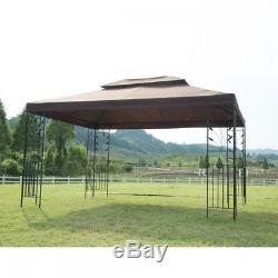 Gazebo Moustiquaire Canopy Brown Backyard Patio Party Extérieur Cadre En Acier