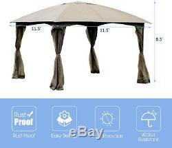 Gazebo Patio Canopy Entièrement Clos Tente Abri Amovible 4 Murs Extérieurs Sheltr