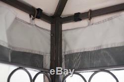 Gazebo Patio Cour Abri 10 X 12 Pi Plate-forme Étanche Pare-soleil Vente Maille Filet