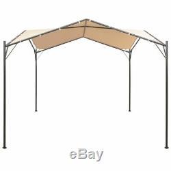 Gazebo Pavillon Tente Auvent 13' 1x13' 1 Acier Beige