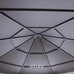 Gazebo Pool Patio Octagon Sun Shelter Cadre En Acier 14,9' X 14,9' Brown