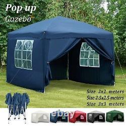Gazebo Pop Up Tente Pour Jardin Canopée Côtés Partie Heavy Duty Waterproof Marquee