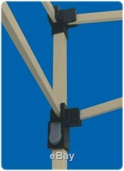 Gazebo Portable Grand Canopy 12x12 Cadre En Acier Instantané Brown Pliant Avec Des Jupes