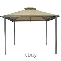 Gazebo Savvi Extérieur 10 X 10 Pieds Canopy Steel Frame Garden Patio Yard Sun Shelter