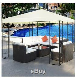 Gazebo Steel Garden Canopy Heavy Duty Grande 10x10 Extérieure