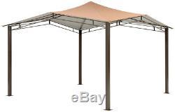 Gazebo Steel Garden Canopy Heavy Duty Grande 12 X 12 Extérieur Pergola Permanent