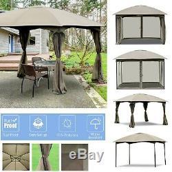 Gazebo Tente D'extérieur En Métal Cadre De Soirée De Mariage Tente Avec Des Murs 11.5' Patio Canopy