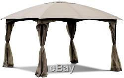 Gazebo Tente Extérieure Tente De Cadre En Acier Avec 4 Murs Amovibles 11.5' Patio Canopy