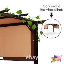 Gazebos Pergola Kit Metal Frame Grape Gazebo And Canopy Cover 12' X 9' Pergola