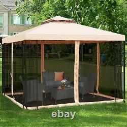Gazebos Pour Les Patios Sur L'autorisation 10x10 Avec Mosquito Netting Canopy Sun Shelter