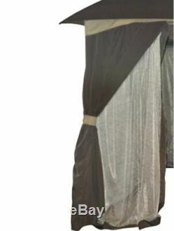 Gazebos Pour Patios Sur Clearance 10x12 Cour Canopy Tente Moustiquaire Confidentialité