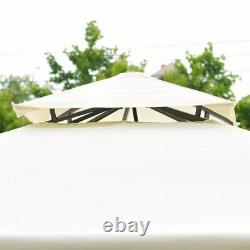 Giantex 2 Tier 10'x10' Patio Gazebo Canopy Tent Steel Frame Shelter Auvent