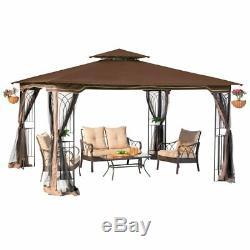 Grand Gazebo Acier Tente 11 Patio Canopy X 13 Métalframe Moustiquaire Nouveau
