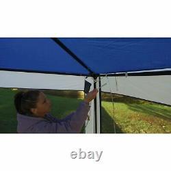 Grand Gazebo Idéal Pour Le Camping Et L'utilisation D'arrière-cour, Polyester Et Poteaux De Cadre En Acier