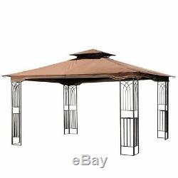Grand Gazebo Pergola En Acier Robuste 11 13 Toit Patio Métalframe Canopy Tente