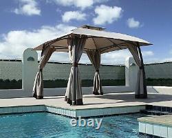 Grand Patio Lawn Pop-up Patio Gazebo Avec Black Metal Steel Frame Outdoor Canopy