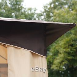 Grand Pont Extérieur Patio Canopy Avec 2-tier Évacuation Roof & Strong Cadre En Acier