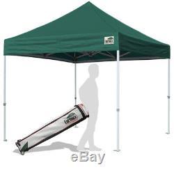 Green Forest 10x10 Pop Up Canopy Tente Instantanée Extérieur Party Gazebo Tente De L'ombre