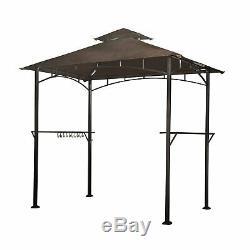 Grill Bbq Gazebo Canopy Extérieur Soleil 4 Led Patio Cour Arrière Portable 8' X 5