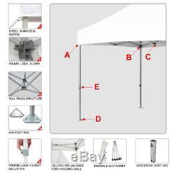 Gris 8x8 Ez Pop Up Outdoor Canopy 5x5 Salon Instantané Gazebo Avec Des Murs Latéraux Zipper