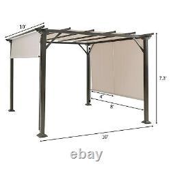 Gymax 10' X 10' Pergola Kit Metal Frame Gazebo &canopy Cover Patio Furniture She
