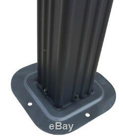 Hard Top Gazebo Pergola En Aluminium Métal Grand 10x10 Extérieur Auvent Abri Ombre