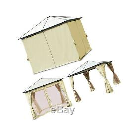 Hard Top Gazebo Tente Acier Permanent Avec Des Murs Moustiquaire 10 X 10 Taud 88 Lbs
