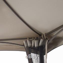 Hexagone Gazebo Avec Netting Extérieur Ombrière Canopy Top Ventilé Cadre En Acier